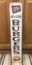 BURGERS Hot And Fresh Soda Home Theater Drive In Movies Movie Dvd Tv Wood Decor