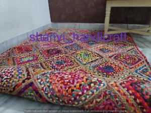 Braided Rag Rugs Bohemian Jute Cotton 3x5 Feet Floor Area Rug Bedroom Rug Carpet
