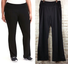 NWT Torrid Active Ribbed Waist Yoga Pants Black Boot Cut Leg Plus Size 2  $54.90