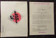 1985 MTV 2nd Annual Video Music Awards VMA's PRESS KIT & Program VF- In Envelope