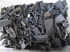 ☀LEGO 100+ DARK GREY MIX OF PARTS PIECES HUGE BULK LOT RANDOM LEGOS LB Gray