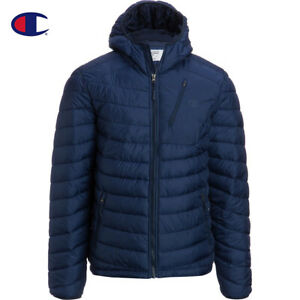 Champion Men's Packable Insulated Hooded Snow Jacket Blue L DWR NWT Streetwear