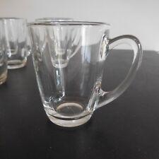 10 tasses café thé cups coffee tea glass verre art déco 1950 design XXe France
