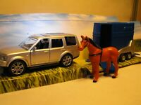 TOY CAR AND HORSE BOX  DIECAST MODEL CAR AND HORSE BOX TRAILER SET WITH HORSE UK