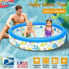 "48"" Inflatable Fantasy Ocean Fish Instant Water Play Swimming Pool Center Kid"