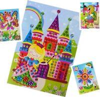 Kinder Bastelset Kreativ Glitzersteinen für Kinder 10 Stück Creativset Mosaik