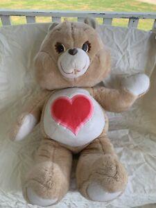 "Huge Rare VINTAGE 1984 Kenner 36"" Tenderheart CARE BEAR Plush - See Description"