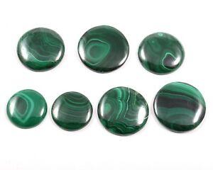 Natural Malachite Loose Gemstone Cabochon 7 Pcs Wholesale Lot 229 Cts SG624