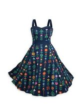 NEW THE DRESS SHOP DISNEY PARKS BLUE IT'S A SMALL WORLD DRESS XS