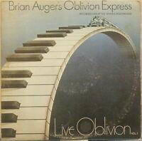 BRIAN AUGER'S OBLIVION EXPRESS Live Oblivion Vol. 1 LP 1970s Jazz-Rock