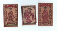 VERY OLD match box labels CHINA or JAPAN patriotic  #599