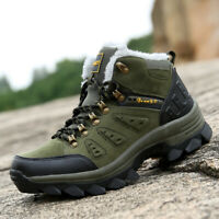 Big Size 39-48 Men's Snow Boots Hiking Shoes Ankle Shoes Winter Warm Casual