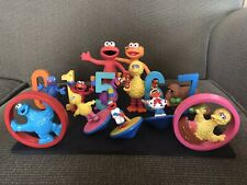 Rare Applause Sesame Street Numbers Toys Figures with Elmo Zoey Cake Toppers