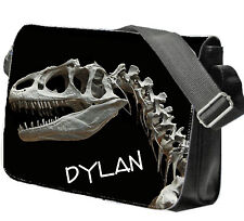 Personalised Boy's School / College / Large Laptop Bag Add a Name Dinosaur