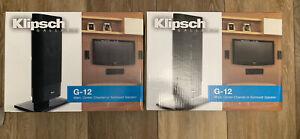 Klipsch Gallery G-12B Flat Panel Speaker Black Set Of 2 Brand new