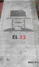 Terraneo mueble tv EL32 roble marrón oscuro 100x44xh66 cm made in Italy nuevo