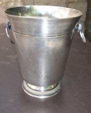 Seau à champagne en métal argenté