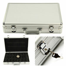 Silver Aluminum 32 Wristwatch Watch Jewellery Display Storage Case Box Showcase