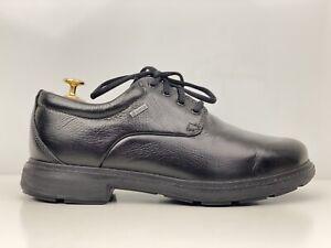 Clarks Un Tread Lo Gore Tex Mens Black Leather Wide Smart Casual Shoe UK Size 7