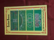 NEW Green Roulette / Black Jack Casino Gaming Table Felt Layout w/ Instructions