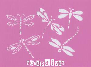 Scrapbooking Art - STENCILS TEMPLATES MASKS SHEET - Dragonfly Design 44