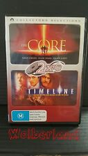 The Core / Timeline [ 2 DVD Set ] Region 4, Fast Next Day Post....8513
