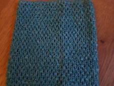Estiramiento de ganchillo tubo superior Vestido Tutú para Niñas Turquesa Azul Congelado 9x 7 pulgadas