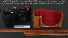 LUIGI'S CASE for LEICA C,BUILT-IN-GRIP,REAR DOOR,with STRAP+WRIST STRAP,SHIPPING