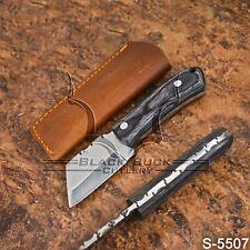 5507 | Black Buck's Handmade High Carbon Steel FULLTANG Seax Knife | W/Sheath
