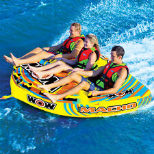 WOW Sports Macho 1-3 Person Towable Water Tube For Pool and Lake (16-1030)