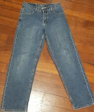 Genuine Blue BILLABONG Tapered Leg Zip Fly Cotton Spandex Stretch Jeans Size 14