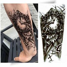 ►TATOUAGE TEMPORAIRE HORLOGE FUNÈBRE ( Tattoo éphémère bras / décalcomanie )◄