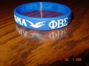 PHI BETA SIGMA GREEK FRATERNITY WRISTBANDS
