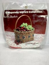 Vintage Burgundy Hill KIt Collection Berry Basket 1988 Commonwealth Mfg.Co