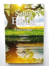 Biblia Version Reina Valera 1960 Economica Letra Grande Palabras Jesus Rojo