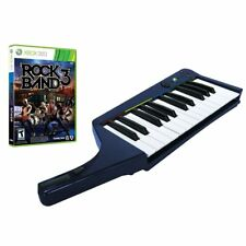 BRAND NEW Xbox 360 Rock Band 3 Game & Wireless Keyboard Bundle Clavier Mad Catz