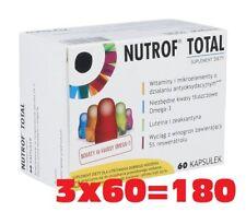 Nutrof Total 3x60 caps VITAMIN D3  comfortable vision, lutinea, Omega-3 Vitamine