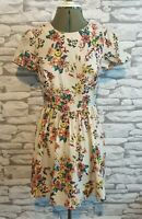 Top Shop pixel Floral Pattern Tea Dress summer holidays casual 8 uk women's lady