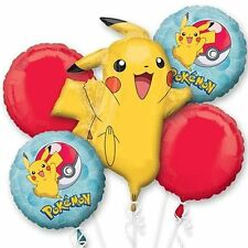 Pokemon Pikachu & Pokeball Birthday Party Supplies (5ct) Foil Bouquet Balloon