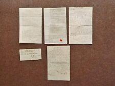 1791 - 1793 Mendlesham Suffolk Job Lot of 4 Manuscript Paper Deed Documents