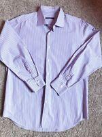 PAL ZILERI Collar  Blue Stripe CLASSIC FIT Shirt Size 44 17 1/2