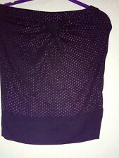 black and pink ladies strapless  party top size 8-10 (girls 164-170cm)