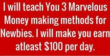 Reveal 3 Excellent Money Making Methods, Perfect For Beginners
