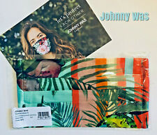 Johnny Was Face Mask - Silk Charmeuse Champagne Butterfly With Filter Pocket