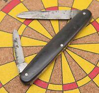 Vintage Schrade Cutlery Co. Walden N.Y. USA 2 Blade Slim Senator Pocket Knife