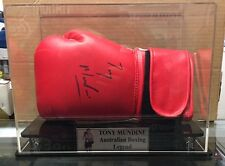 Australian Boxing Legend Tony Mundine Signed Glove In Display Case