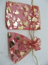 100 Red Drawstring Jewelry Gift Pouches 7x9cm
