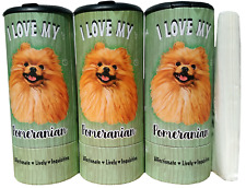 I Love my Pomeranian(85010) Refillable Tissue Tube with 1 Refill package