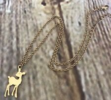 Forever 21 Necklace Deer Gold Tone Metal Length 15 in Chain NEW
