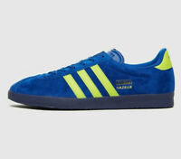 adidas Originals Gazelle Vintage Trainers in Blue and Yellow Suede Shoes